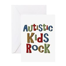 Autistic Kids Rock Greeting Card