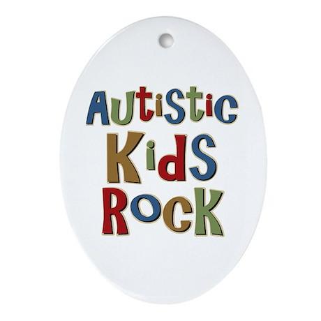 Autistic Kids Rock Oval Ornament