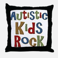 Autistic Kids Rock Throw Pillow