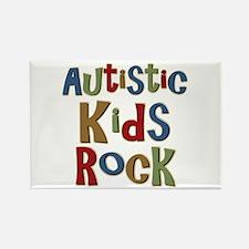 Autistic Kids Rock Rectangle Magnet