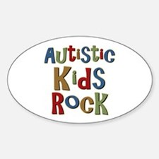 Autistic Kids Rock Oval Decal
