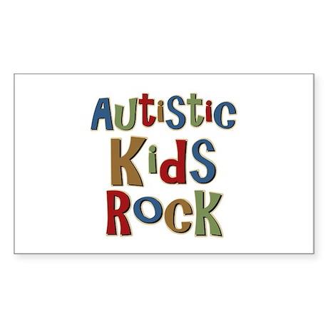 Autistic Kids Rock Rectangle Sticker