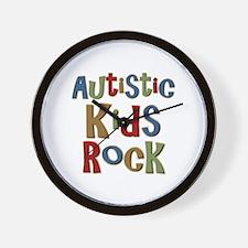 Autistic Kids Rock Wall Clock