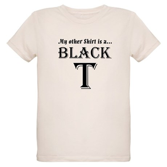 Black T Organic Kids T-Shirt