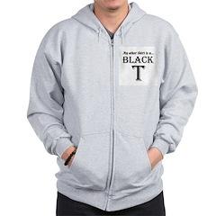 Black T Zip Hoodie