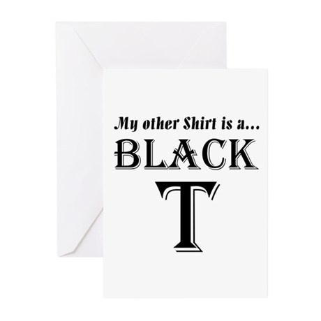 Black T Greeting Cards (Pk of 20)