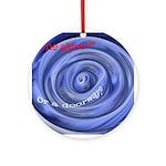 Mesmerizing wormhole Ornament (Round)