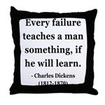 Charles Dickens 25 Throw Pillow