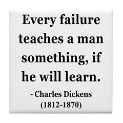 Charles Dickens 25 Tile Coaster