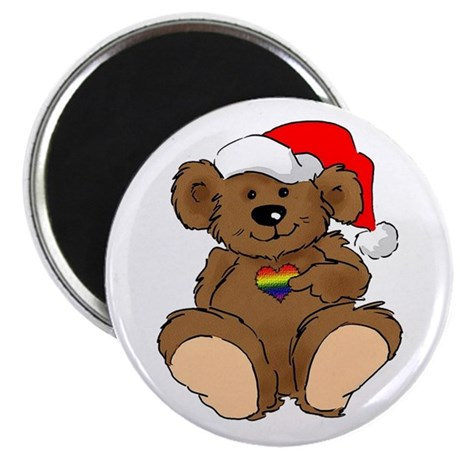 "Christmas Bear Gay 2.25"" Magnet (100 pack)"