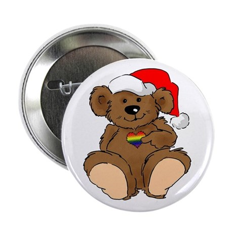 """Christmas Bear Gay 2.25"""" Button (10 pack)"""