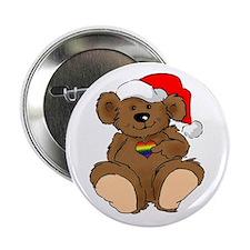 Christmas Bear Gay Button