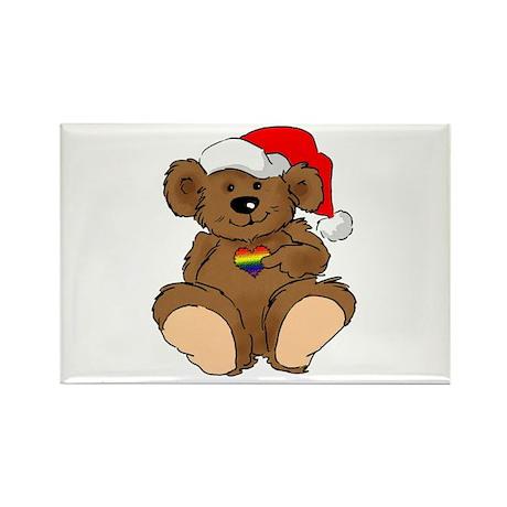 Christmas Bear Gay Rectangle Magnet (10 pack)