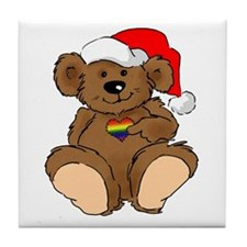 Christmas Bear Gay  Tile Coaster