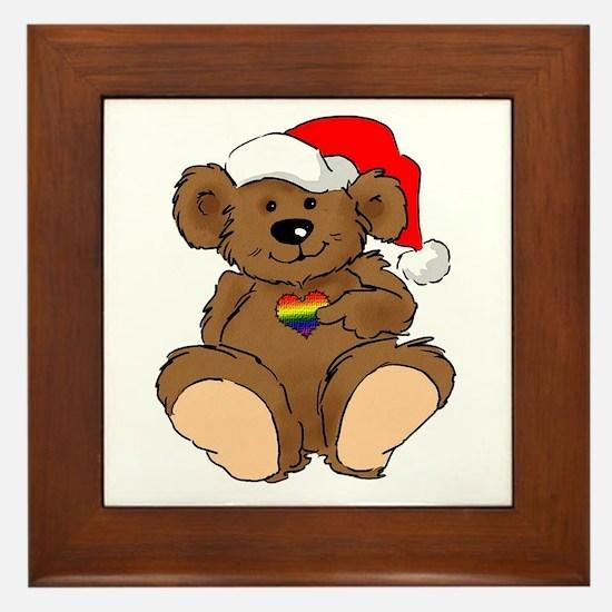 Christmas Bear Gay  Framed Tile