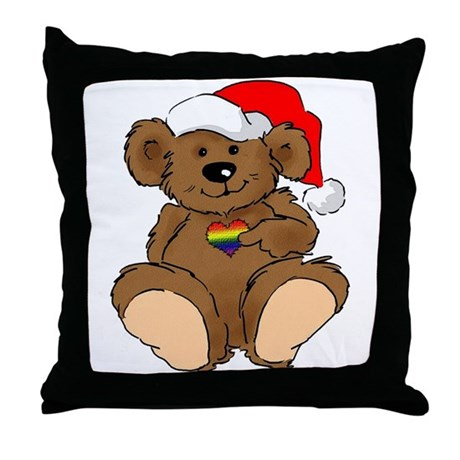 Christmas Bear Gay Throw Pillow