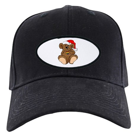 Christmas Bear Gay Black Cap
