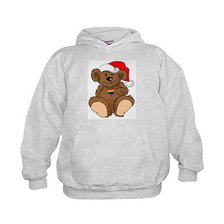 Christmas Bear Gay Kids Hoodie
