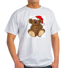 Christmas Bear Gay  Ash Grey T-Shirt