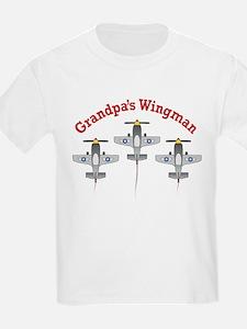Aviation Grandpa's Wingman T-Shirt