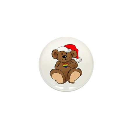 Christmas Bear Gay Mini Button