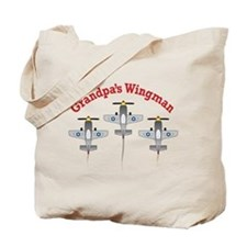 Aviation Grandpa's Wingman Tote Bag