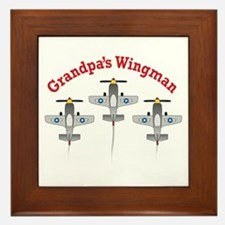 Aviation Grandpa's Wingman Framed Tile