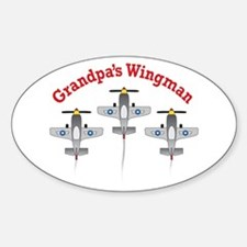 Aviation Grandpa's Wingman Oval Decal
