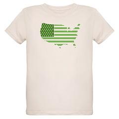 Green USA Flag T-Shirt