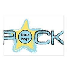 Little Boys Rock Postcards (Package of 8)
