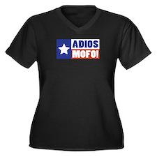 Adios Mofo (Secede) Women's Plus Size V-Neck Dark