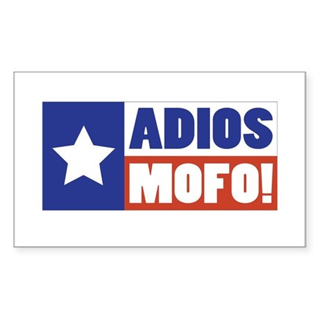 Adios Mofo (Secede) Rectangle Sticker