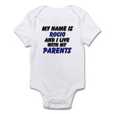 my name is rocio and I live with my parents Infant
