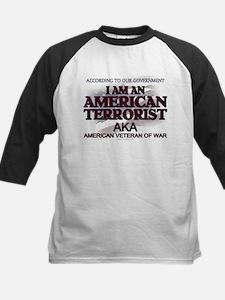 American Terrorist Veteran of Kids Baseball Jersey