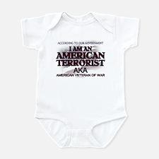 American Terrorist Veteran of Infant Bodysuit