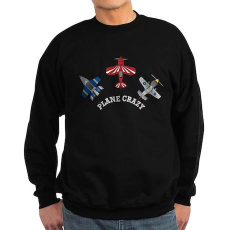 Aviation Plane Crazy Sweatshirt (dark)