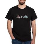 Bikes > Cars Dark T-Shirt