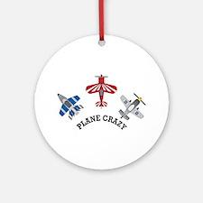 Aviation Plane Crazy Ornament (Round)