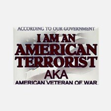 American Terrorist Veteran of Rectangle Magnet