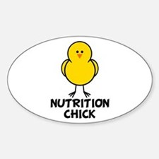 Nutrition Chick Oval Decal