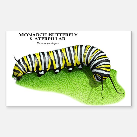 Monarch Butterfly Caterpillar Rectangle Decal