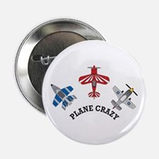 "Aviation Plane Crazy 2.25"" Button (10 pack)"