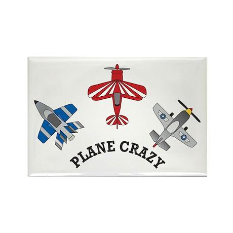Aviation Plane Crazy Rectangle Magnet (10 pack)