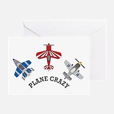 Aviation Plane Crazy Greeting Card