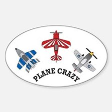 Aviation Plane Crazy Oval Decal