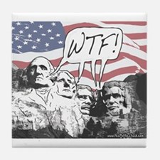 WTF Mount Rushmore Tile Coaster