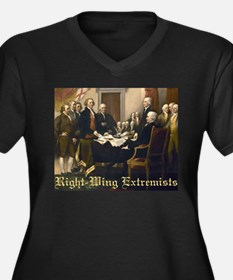 Right-Wing Extremists Women's Plus Size V-Neck Dar