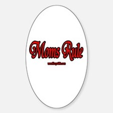 MOM'S RULE Oval Decal
