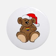 Christmas Bear Gay  Ornament (Round)