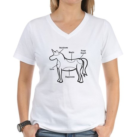 Unicorn Parts Women's V-Neck T-Shirt